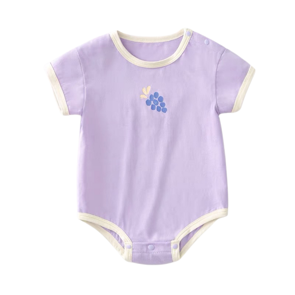 Basic Summer Bodysuit Purple