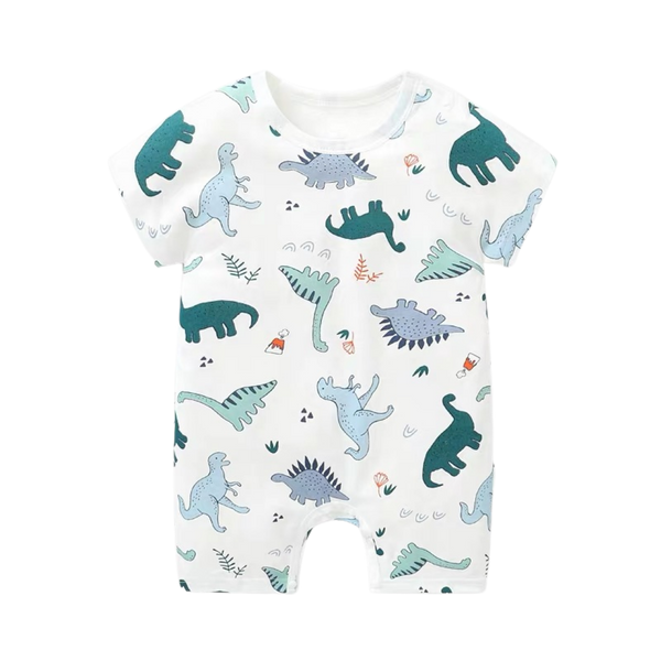 Boys Dino Bodysuit White