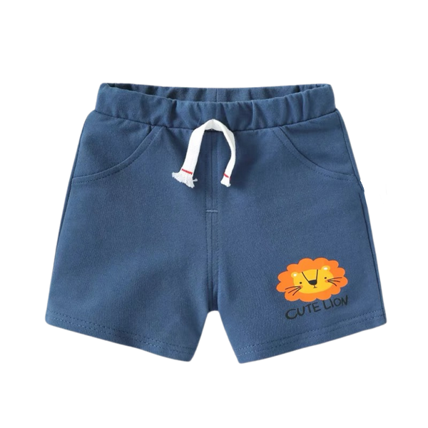 Relaxed Jersey Shorts Lion