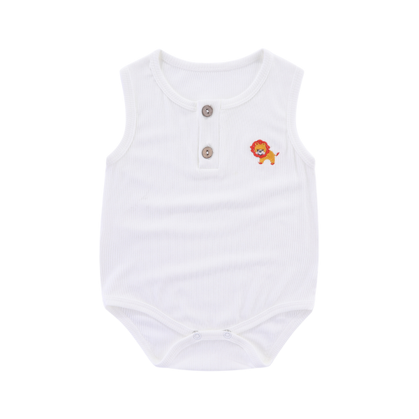 Ribbed Cotton Sleeveless Bodysuit Cub