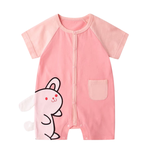 Animal Pocket Playsuit Bunny