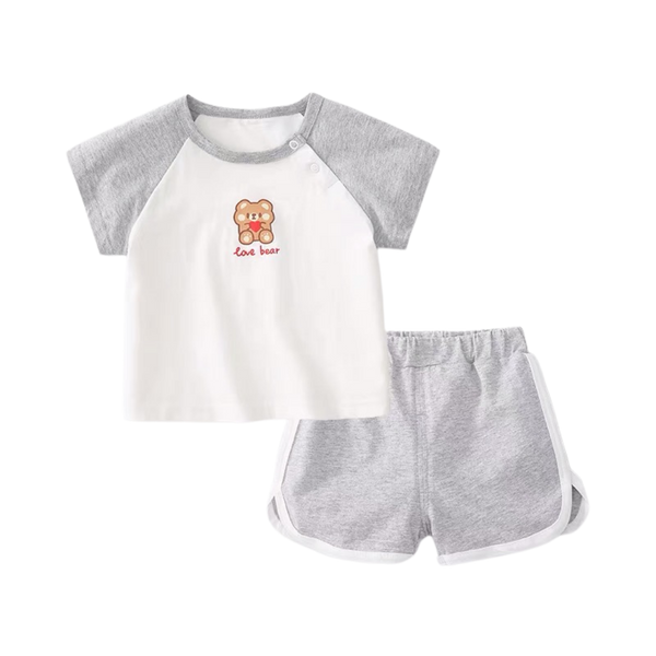 Summer Play Tee Shorts Set Bear