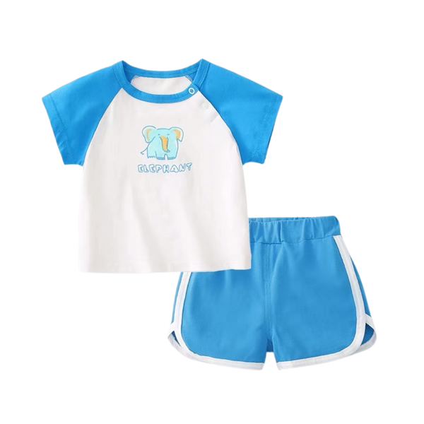 Summer Play Tee Shorts Set Elephant