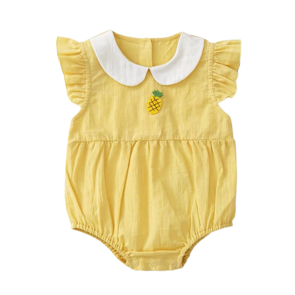 Thea Ruffled Bodysuit Thistle Pineapple