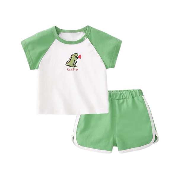 Summer Play Tee Shorts Set Dino