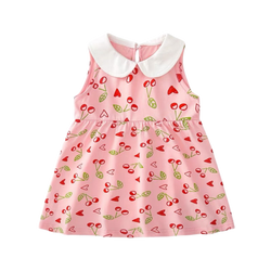 Summer Sweet Collar Dress Cherry