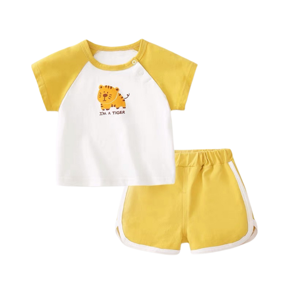 Summer Play Tee Shorts Set Tiger