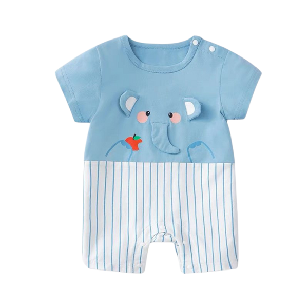 Cartoon Cotton Bodysuit Elephant