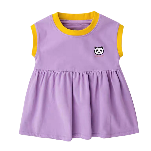 Little Panda Babydoll Dress Purple