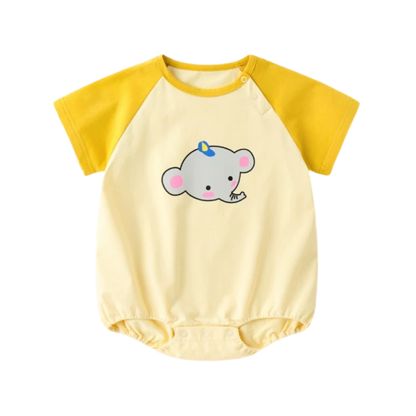 Everyday Basic Bodysuit Playful Elephant