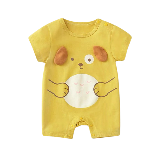 Cartoon Cotton Bodysuit Puppy