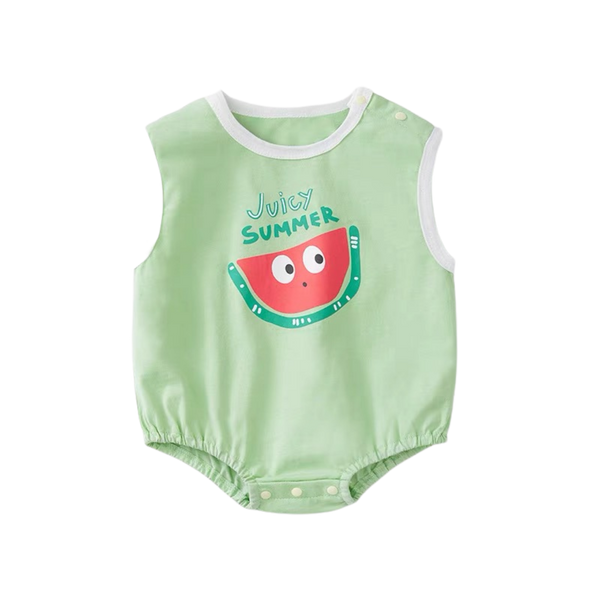 Fruity Sleeveless Bodysuit Watermelon