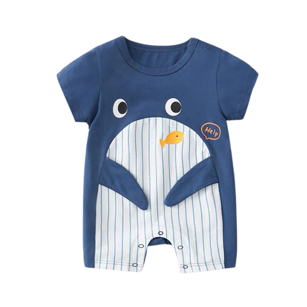 Cartoon Cotton Bodysuit Whale