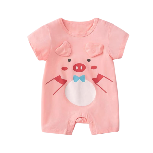 Cartoon Cotton Bodysuit Piglet