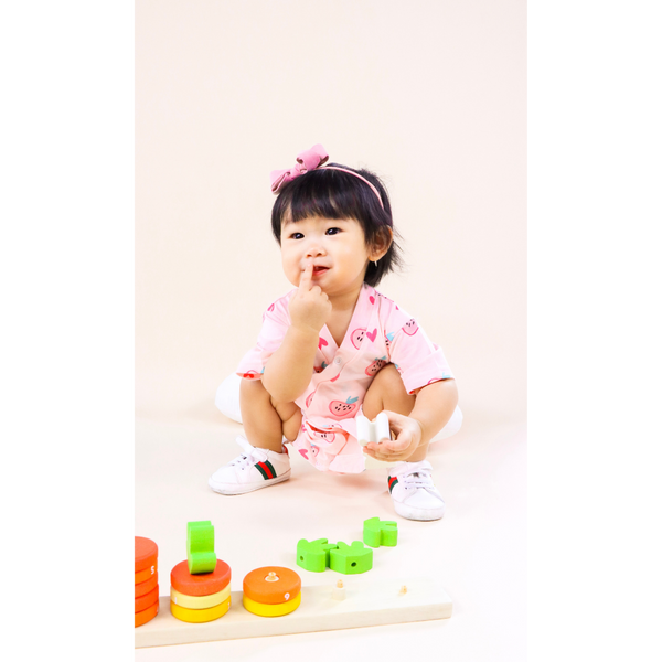 Japanese Kimono Playsuit Strawberry