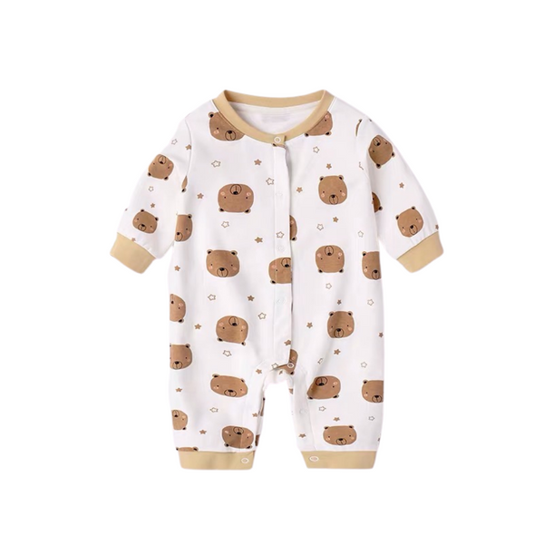 Everynight Button One-Piece Suit Teddy