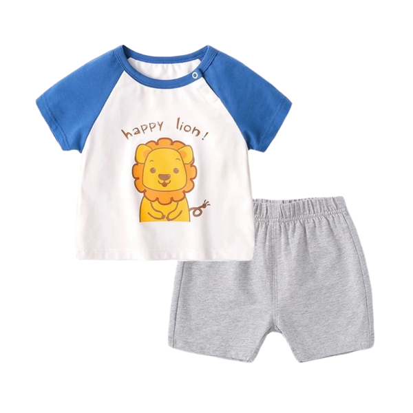 Summer Jersey Tee Set Happy Lion
