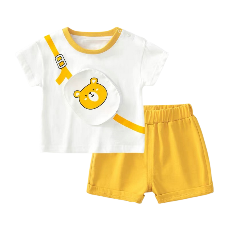 Enzo Pouch Tee Shorts Set Bear