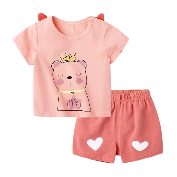 Cotton Cute Soft Tee Set Queen Bear