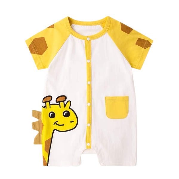 Animal Pocket Playsuit Giraffe