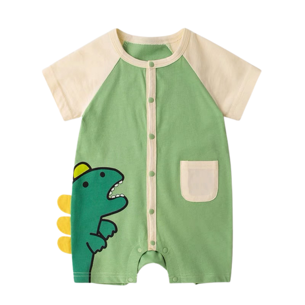 Animal Pocket Playsuit Monster