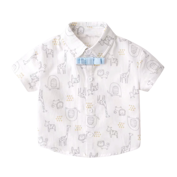 Handsome Safari Collared Shirt White