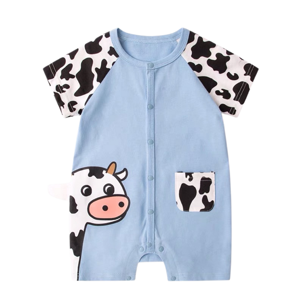 Animal Pocket Playsuit Moo