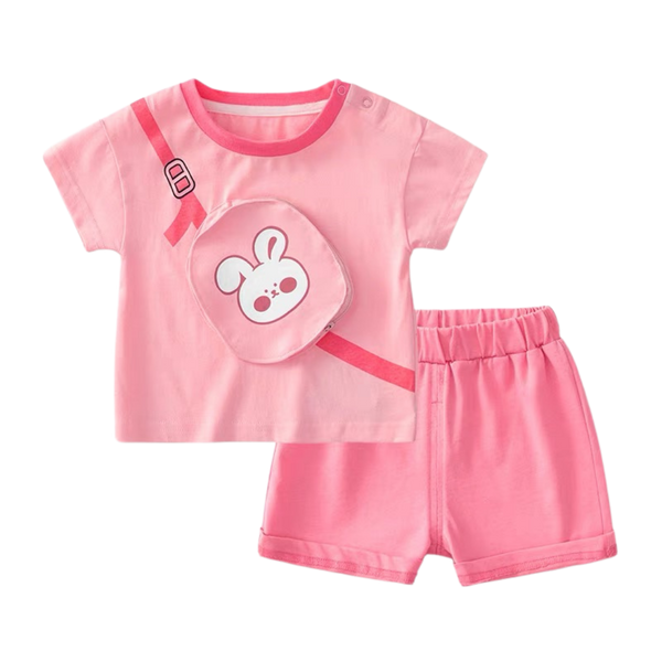 Enzo Pouch Tee Shorts Set Rabbit