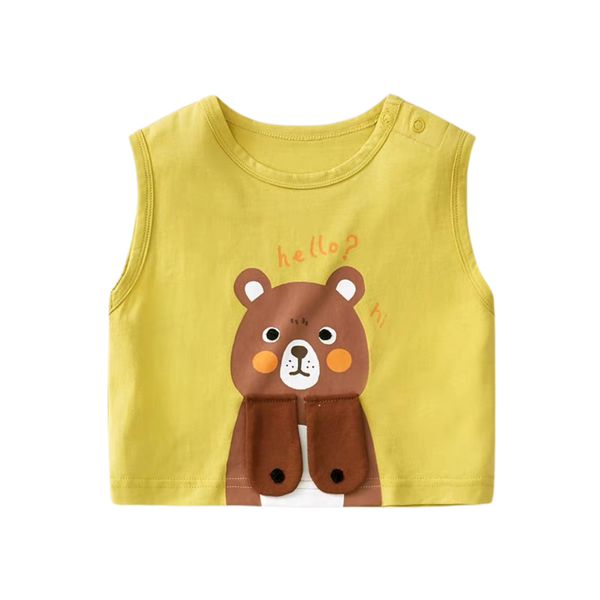 Breezy Summer Singlet Bear