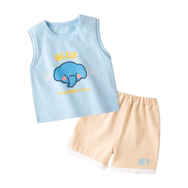 Animal&Friends Sleeveless Set Elephant
