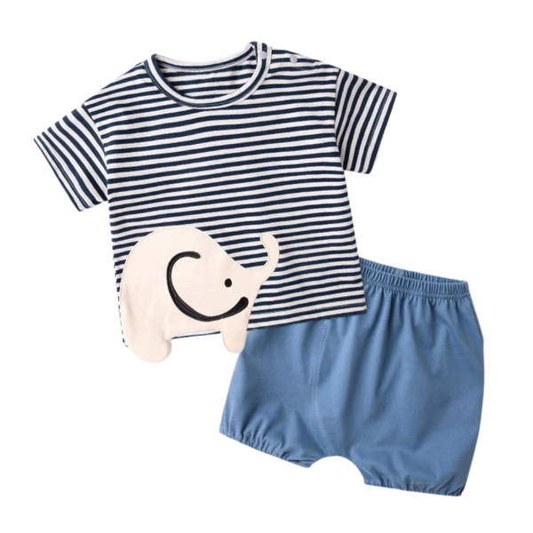 Elle Tee Shorts Set Stripes