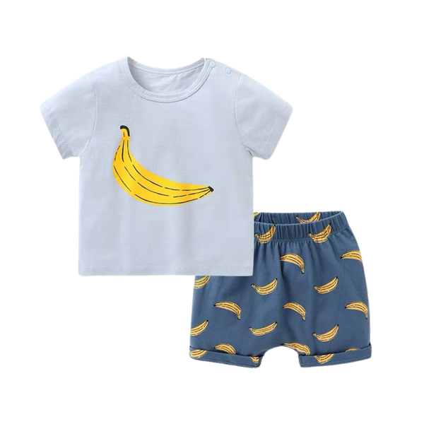 Fruit Tee Shorts Set Banana