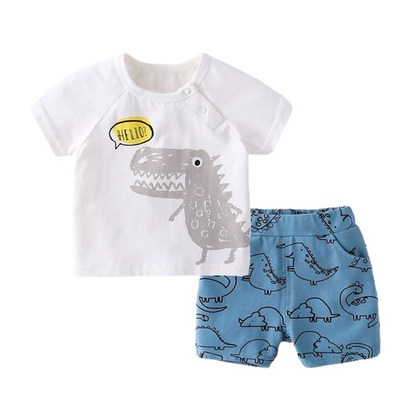 Cotton Soft Tee Set Hello Dino