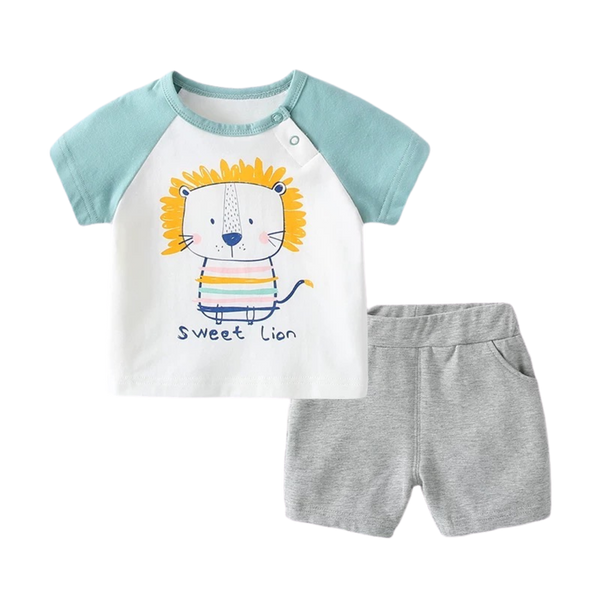 Cotton Soft Tee Set Sweet Lion