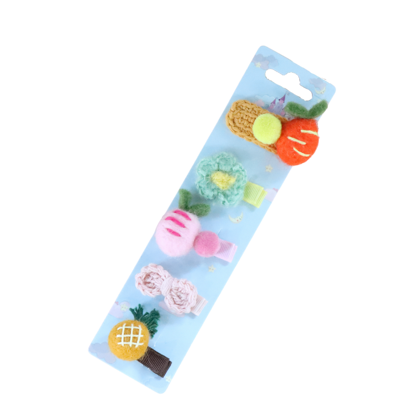 5-Pack Fruity Hair Clip