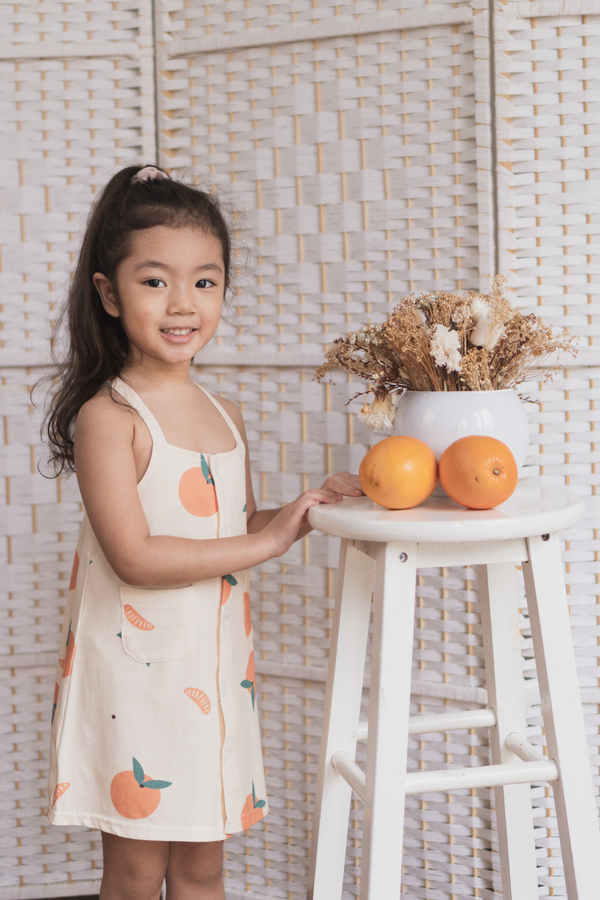 Blessing Orange Girl Pocket Dress