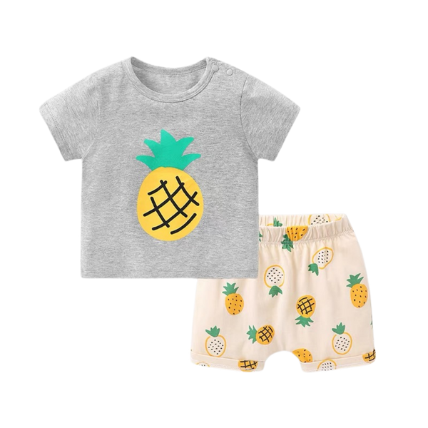 Fruit Tee Shorts Set Pineapple