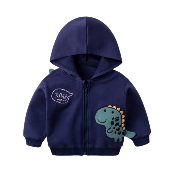 Dino Zip-up Hooded Navy