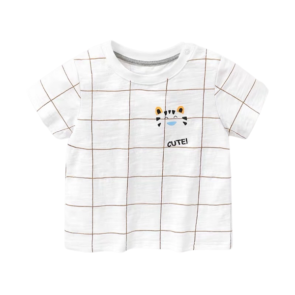 Boys Summer Tee Checkered