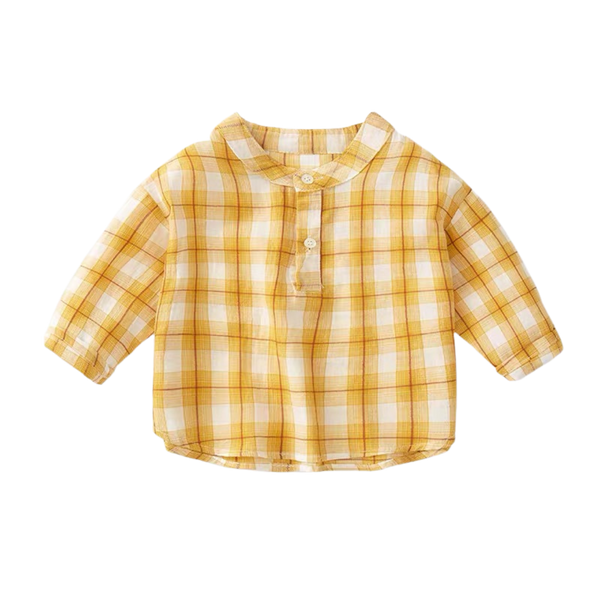 Charlie Checkered Shirt Sunflower