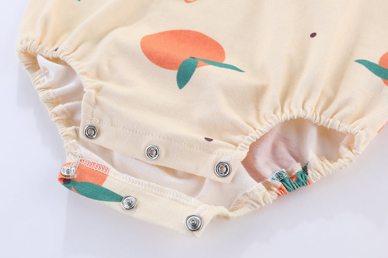 Blessing Orange Oriental Baby Romper