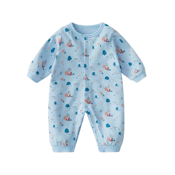 Everynight Button Sleepsuit Woodland
