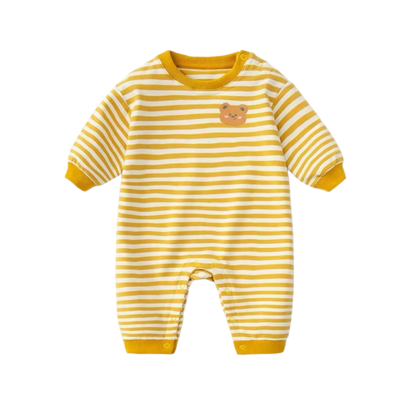 Everynight Sleepsuit Yellow Stripes Bear