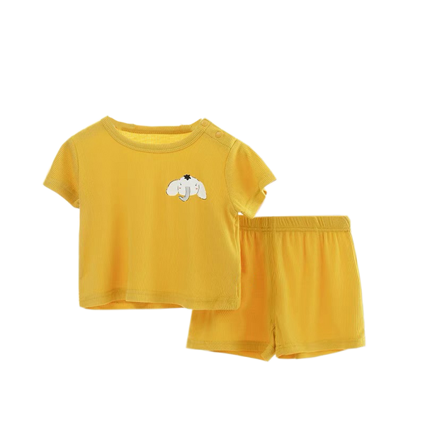 Everyday Ribbed Cotton Set Mustard