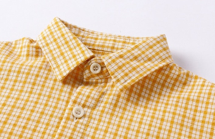 Gabe Handsome Series Checkered Shirt Crepe