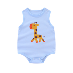 Nature Sleeveless Bodysuit Giraffe