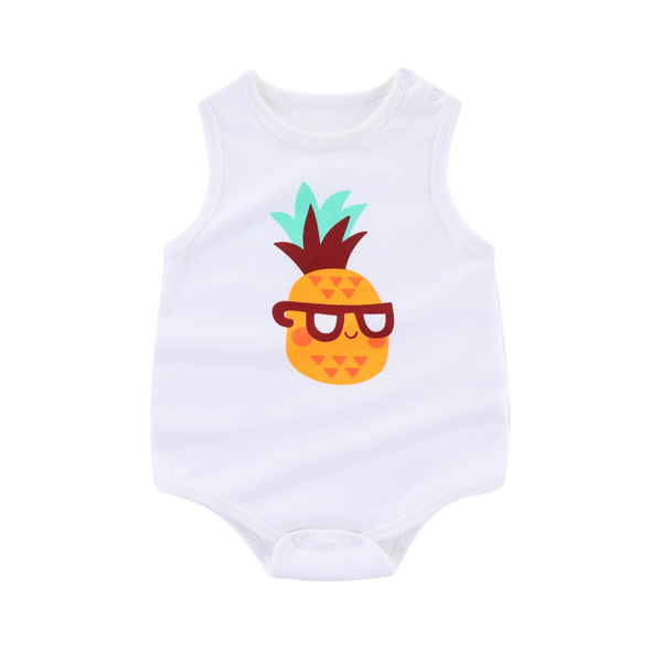 Nature Sleeveless Bodysuit Pineapple