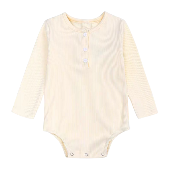 Ribbed Cotton Long Sleeve Bodysuit Butter