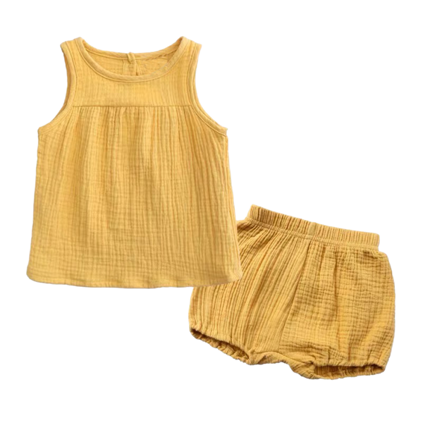 Sleeveless Everyday Wear Mustard