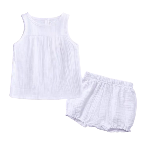 Sleeveless Everyday Wear White